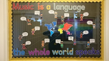 'Music Is A Language The Whole World Speaks' display