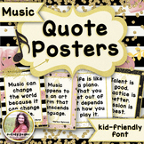 ‪Music Quote Posters to Encourage and Inspire {25 Chic & Glam Signs, Print Font}
