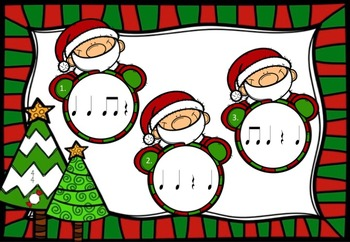 Santa's Rhythms - A Game to Practice Quarter Rests