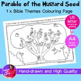 """Mustard Seed"" Printable Bible Coloring Sheet/Colouring Pa"
