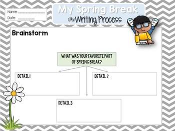 'My Amazing Spring Break' Writing Process Packet