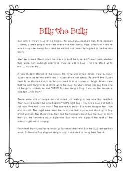 """My Anti-Bullying Workbook"" - 21 pages - Just Print!"