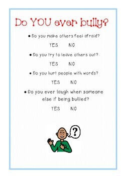 "NEW! ""My Anti-Bullying Workbook"" - 21 pages - Just Print!"