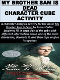 """My Brother Sam is Dead"" Character Cube Activity"