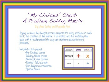 """My Choices"" Problem Solving Matrix"