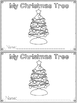 """My Christmas Tree"" Emergent Reader (A Christmas/December"