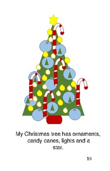 'My Christmas' Volume 1 PreReader by Carol Lee Brunk Comprehension Book