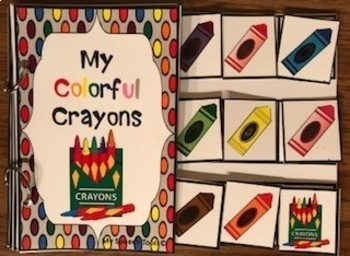 """My Colorful Crayons"" Adapted Interactive Book"