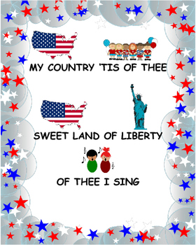 """My Country 'Tis of Thee"" Lyrics Modified for Special Needs Students"
