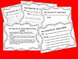 """My Favorite Dr. Seuss Book"" writing sheets"