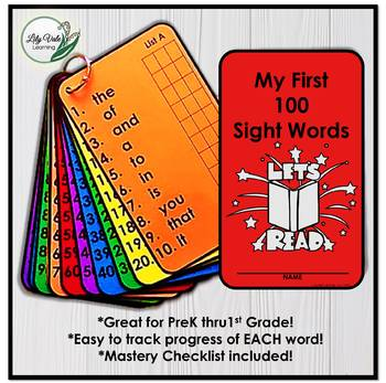 **My First Sight Words- by LilyVale Learning