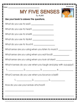 """My Five Senses"" Activities for Guided Reading & Writing"