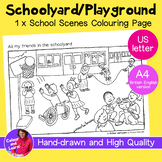 """""""Schoolyard/Playground 2"""" Coloring Page/Colouring Sheet (E"""