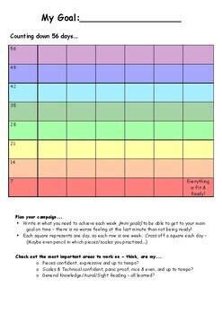 'My Goal' Countdown Charts