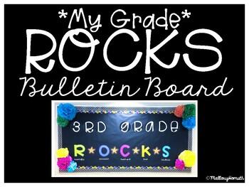 """""""My Grade"""" ROCKS Bulletin Board Letter"""