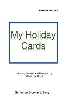 'My Holiday Cards'  Volume 2 PreReader Book
