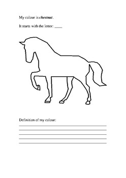 'My Horse Colour Is' Activity