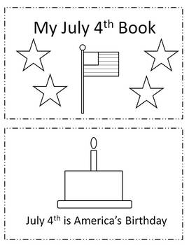 """My July 4th Book""  Mini little booklet about America USA"