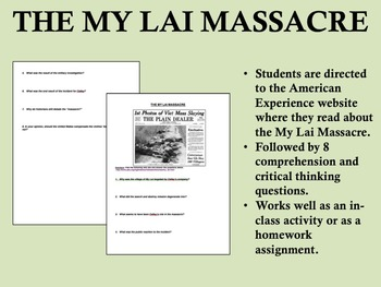 """My Lai Massacre"" - Vietnam War - 1960s - US History/APUSH"