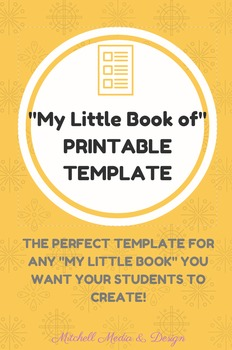 """My Little Book of..."" TEMPLATE"