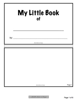 """""""My Little Book of..."""" TEMPLATE"""