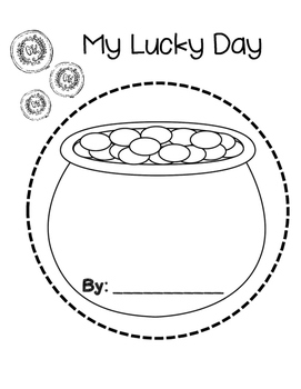 """""""My Lucky Day"""" Saint Patrick's Day Book"""