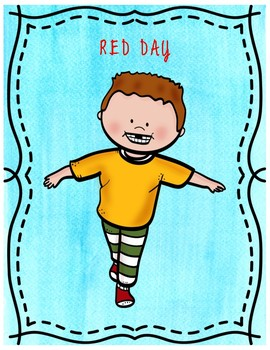 """My Many Colored Days""- A Musical Movement Activity for Read Across America"
