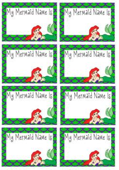 """""""My Mermaid Name Is"""" Nametags"""