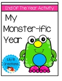 """""""My Monster-ific Year"""" - End Of The Year Activity"""