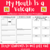 'My Mouth Is A Volcano' Book Activity - character task