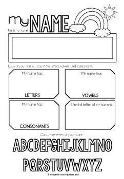 """My Name"" Activity Worksheet"