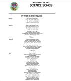 """My Name Is Earthquake"" Lyric Sheet, Worksheet, and Answer Key"