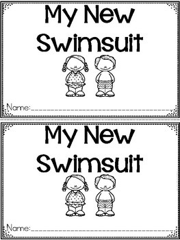 """My New Swimsuit"" A June/Summer Emergent Reader and Response Dollar Deal"