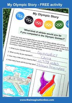 Free 'My Olympic Story' Summer Games imaginative learning & research activity
