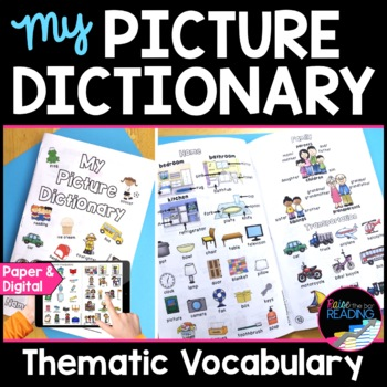 """""""My Picture Dictionary"""" ELL Dictionary for Beginning ELL Vocabulary"""