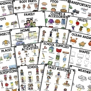 """My Picture Dictionary"" and Beginning ELL Vocabulary Activities *The Bundle*"