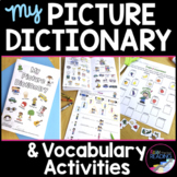 """My Picture Dictionary"" with Beginning ELL Vocabulary Activities"