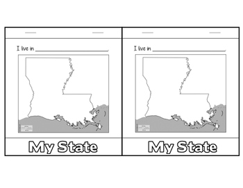 """My Place in the World"" Flip-book - LOUISIANA specific"