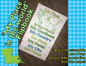 """""""My Place in the World"""" Flip-book - LOUISIANA specific"""