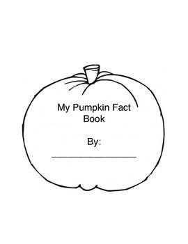 """""""My Pumpkin Fact Book"""""""