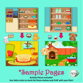 """My Quiet Pet Shop Book"" by LilyVale Learning- Busy Book for Early Childhood"