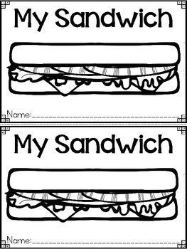 """My Sandwich"" A May/Spring Emergent Reader and Response Dollar Deal"