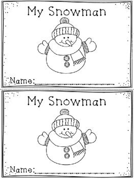 """""""My Snowman"""" Emergent Reader (A Winter/December/January Do"""