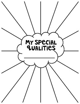 'My Special Qualities' Sheet