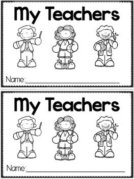 """My Teachers"" (A Back to School Emergent Reader Dollar Deal)"