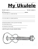 'My Ukulele': Beginner Ukulele Worksheet, Study and Curriculum
