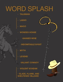 """My Wonder Horse"" by Sabine Ulibarri: Reading Engagement/Comprehension Activity"