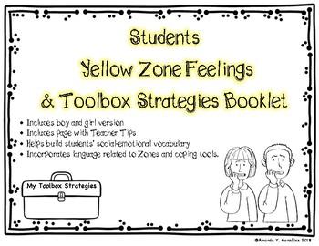 """My Yellow Zone Feelings & Toolbox Strategies"" Student Booklet"