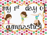 """""""My first day of gymnastics"""" poster"""