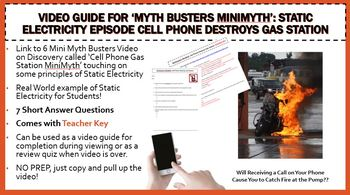 'Myth busters MiniMyth': Static Electricity Episode No Prep W/ Key